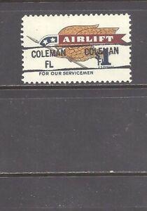 FLORIDA Precancel: $1 Airlift - Coleman 841 (# 1341)