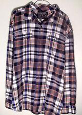 Nautica Jeans Co NJ-99 Mens Black White Gray Red Blue Orange Plaid Shirt Sz XL