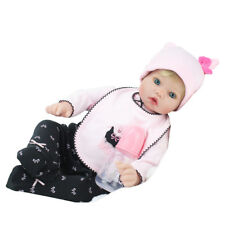 22'' Reborn Newborn Dolls Lifelike Blonde Wig Vinyl Silicone Baby Boy Doll Gift