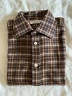 turnbull and asser heavy brushed cotton checked shirt, very soft and warm.