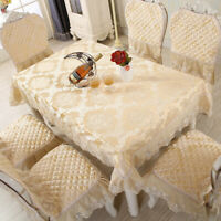 European Style Tablecloth Dustproof Wedding,Dining Room Tablecloth with Lace
