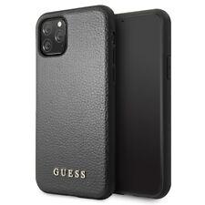"Custodia Guess Iridescent Cover Semi-rigida Nera Apple iPhone 11 Pro Max 6.5"""