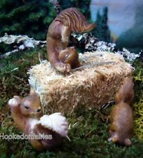 Miniature Playing Squirrel Set of 3 Assorted for Fairy Garden Dollhouse MG 177