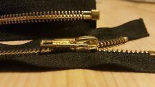1 × 24'' inch Talon Repro vintage style brass jacket Zip-Zipper
