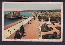 Nice Promenade des Anglais Jetee Promenade et Jardin Albert-I Vintage Postcard