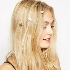 1Pc Gold Star Hair Clip Wedding Bridesmaid Hair Pins Grips Clips Jewellery Craft