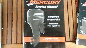 MERCURY SERVICE MANUAL 40/50/60 FOURSTROKE EFI 2002 STARTING S/NUMBER 0T409000