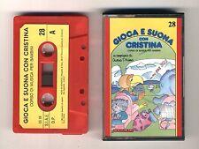 GIOCA E SUONA CON CRISTINA D'AVENA Musicassetta 28 OTTIMO Mc Audiocassetta 1989