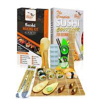 Sushi Making Kit Bamboo Rice Mold Mat Rolling Gift Maker Set Beginners Book 🍣