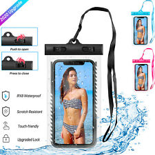 Underwater Waterproof Bag Cell Phone Dry Case Pouch Cover Swimming For iPhone US