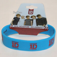 NEW One Direction 1D Logo Rubber Bracelet Authentic Licensed Jewelry BLUE RED