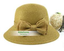 Cappelli da donna beige in paglia