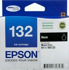 Genuine Epson 132 Black Ink Cartridge--(N11/NX125)