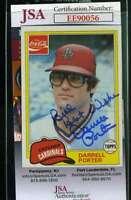 Darrell Porter 1981 Topps Coke Jsa Coa Hand Signed Authentic Autograph