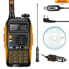 Baofeng/Pofung GT-3 Mark II UHF/VHF 2m/70cm DualBand Funkgerät+kabel+CD