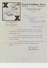 E. Schilling Bern Morges dekoratives historisches Schreiben 1912 Schweiz X-Haken