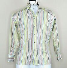 Fila Mens Stripe Smart Shirt Top Long Sleeve Casual Formal Dress Size M