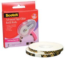 "Scotch 3M ATG Tape Adhesive Glider Gun Refill 2 acid-free rolls 1/4"" x 36yd"