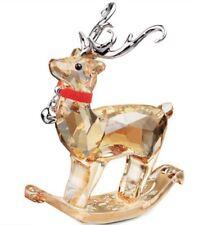 NIB $149 SWAROVSKI CRYSTAL CHRISTMAS WINTER Reindeer Gloden Shadow 5155704