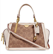 🌺🌹Coach Signature Dreamer 21 Mini Satchel Tan-Chalk-Gold 54117