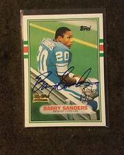 BARRY SANDERS 2001 TEAM TOPPS RC REPRINT AUTOGRAPH ROOKIE AUTO RARE SSP ON CARD
