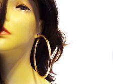 LARGE HOOP EARRINGS 4 INCH SILVER OR GOLD PLATED HOOP EARRINGS THICK CIRCLE HOOP