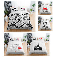 White 3D Disney Mickey Mouse Bedding Set Quilt Cover Set Duvet Cover Pillowcase