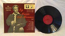 LP VINYL RECORD ALBUM MARIO DEL MONACO AN OPERATIC RECITAL NO. 2