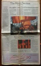 Christo swatches 2 with NY Times cover