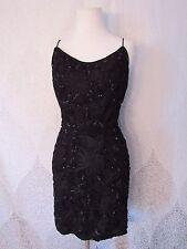 Vintage Jon Mccauley Black Sequin Mini Dress Party Cocktail Lbd Dress Size S?
