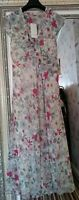 New PER UNA Ladies Vibrant Floral Ruffle Buttons Maxi Dress Cruise Party UK 14R