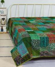 Hippie Quilt Indian Patchwork Quilt Kantha Quilt King Size Bohemian Handmade
