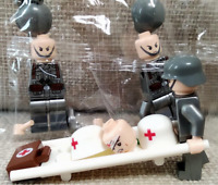 3 Pcs Minifigures Soldiers Military Medical Red Army Soviet US - UK LeGo MOC
