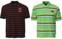 New Men's Wales Cymru Welsh Dragon Logo Yarn Dyed Striped Rugby Polo Shirt Top
