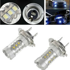 Pair Ice Blue 80W H7 LED Car Super Bright DRL Fog Driving Light Lamp Bulb 12V