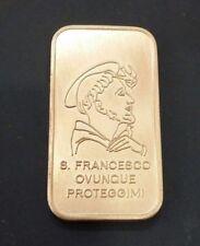 San Francesco d'Assisi ovunque proteggimi - Lingotto di argento 800