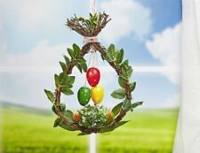 Easter Eggs Wreath Deco Window Picture Ostergesteck