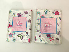 4 total Venus Home collection kids pillowcases standard butterfly dance snails