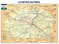 PARIS SUBWAY MAP ART PRINT Le Metro de Paris by RATP French France Poster 24x32