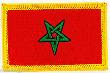 PATCH ECUSSON BRODE DRAPEAU MAROC INSIGNE THERMOCOLLANT NEUF FLAG PATCHE