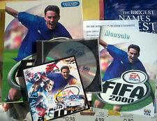Fifa 2000 windows 95 98 PC gioco vintage raro scatola e manuali EA SPORTS