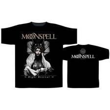 """NEW AND OFFICIAL MOONSPELL """"Night Eternal"""" BLACK UNISEX T-SHIRT SMALL"""