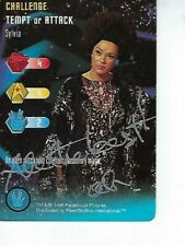 ANTOINETTE BOWER STAR TREK CCG Trading Card AUTOGRAPHED Signed - SYLVIA