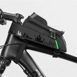 1Pc 5.8/6'' Waterproof Bicycle Front Top Tube Phone Bag Touch Screen Big Storage