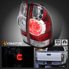 For 2005-2015 Toyota Tacoma Base X-Runner Red Clear LED Rear Tail Brake Lights