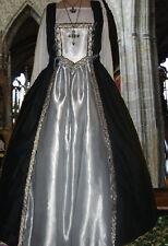 Tudor Renaissance 2pc Costume Medieval SCA Garb SilverStar FullSkt BiLc BodiceXL