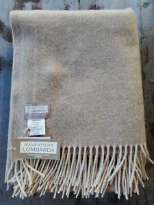 Manifattura Lombarda Italy Luxury 100% Cashmere Throw - Taupe – New