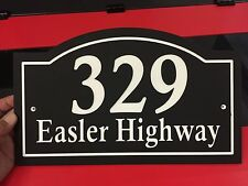 """Arched House Number Address & Street NamePlaque Personalized 1/4"""" Color Core"""