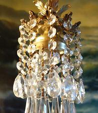 1o3 Hanging lamp mini  baby SWAG Chandelier Crystal prisms Brass Spelter Vintage