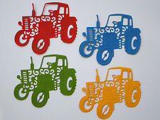 Vintage Tractor Paper Die Cuts x 2 Sets Scrapbooking Card Topper Embellishment
